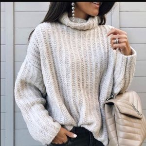 Free people pearl fluffy sweater